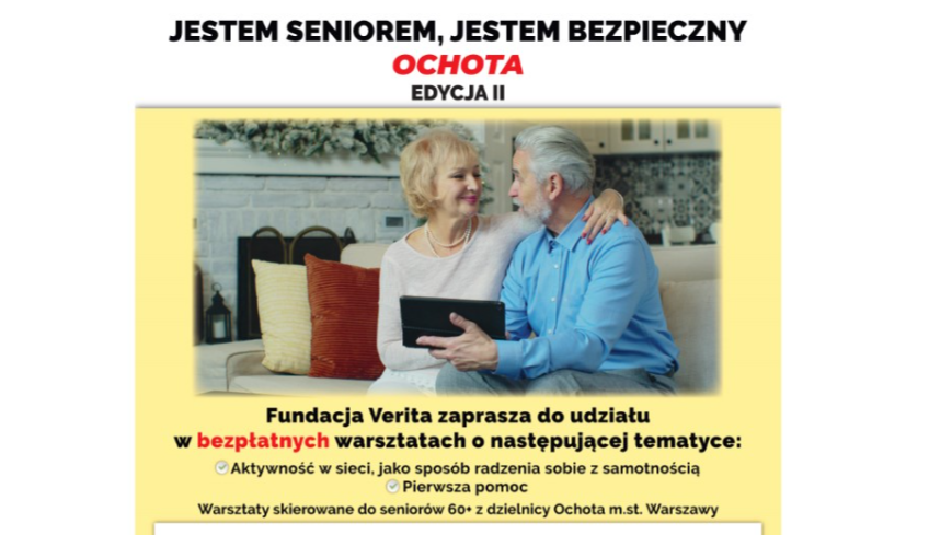 Plakat, seniorzy