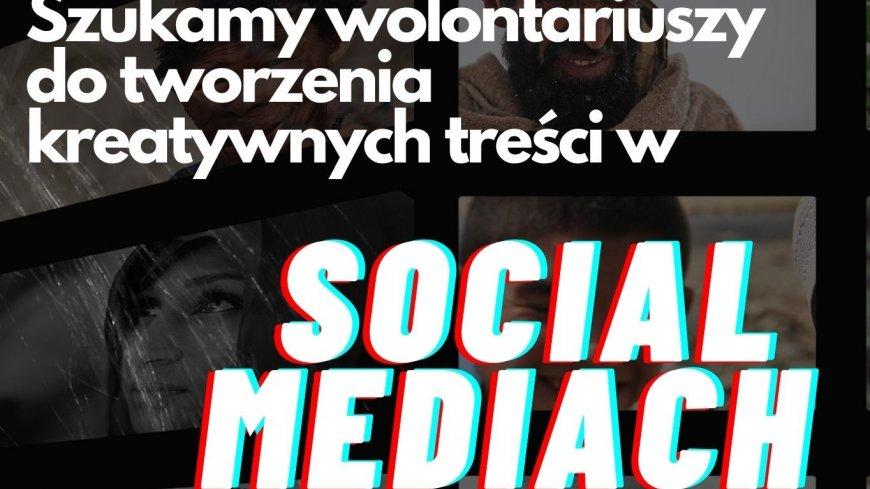 plakat informujący o poszukiwaniu wolontariuszy